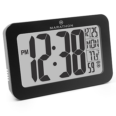 Marathon Atomic Wall Clock with 8 Time Zones