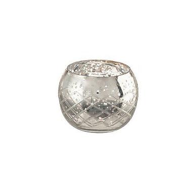 LiveVie – Bougeoir votif en verre à motif diamanté de la collection Champagne