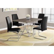 "Monarch I 1057 Dining Table - 36""X 48"", Chrome Metal"