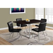 "Monarch I 1064 Dining Table - 36""X 60"", Chrome Metal"