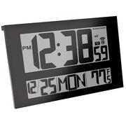 Marathon - Horloge atomique numérique murale, écran géant, qualité commerciale, noire (CL030025BK)