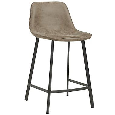 Faux Suede Counter Stool, 2/Pack, Vintage