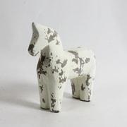 Distress ? Cheval blanc décoratif, 2/pqt