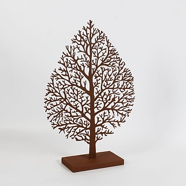 Metal Leaf With Base Table Decor