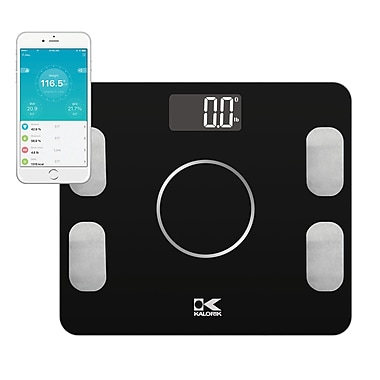 Kalorik Bluetooth Electronic Body Fat Scale with Body Analysis