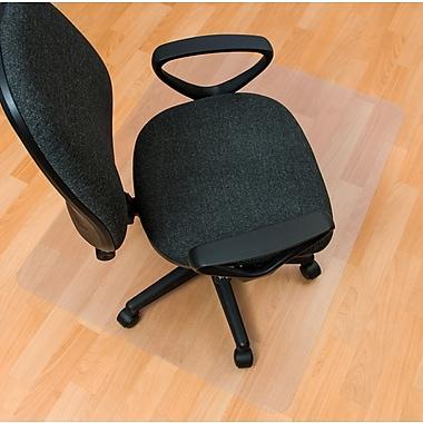 Floortex – Sous-chaise recyclé pour planchers durs, rectangulaire, transparent