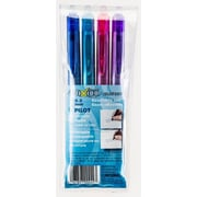 Pilot Frixion Clicker Retractable Erasable Gel Pens, Assorted, 4/Set