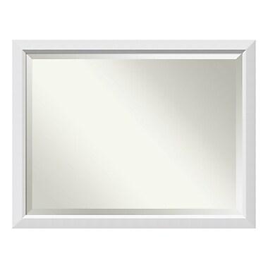 Amanti Art ? Miroir mural surdimensionné, blanc Blanco