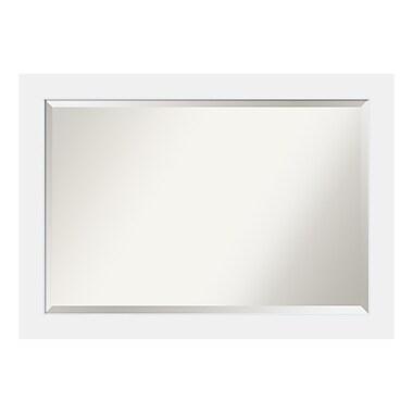 Amanti Art ? Très grand miroir mural, blanc Corvino
