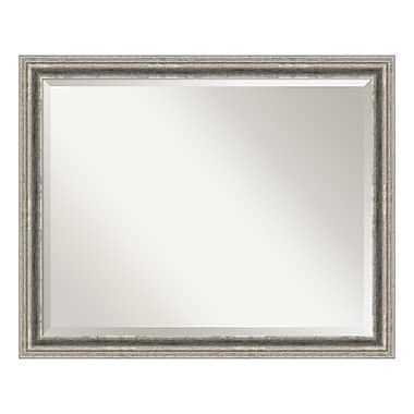 Amanti Art ? Miroir de salle de bain pour armoire standard 30 à 36 po, argenté Bel Volto
