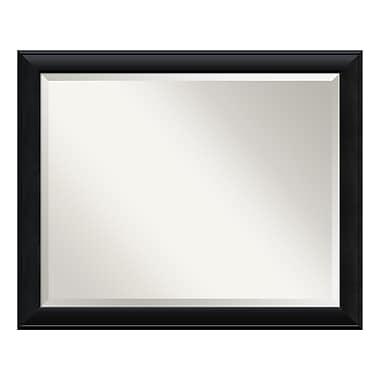 Amanti Art ? Grand miroir de salle de bain, pour armoire standard de 30 à 36 po, noir Nero