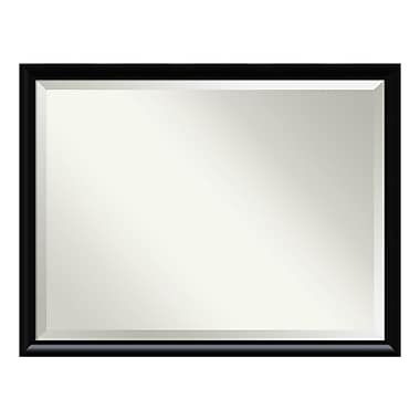 Amanti Art ? Miroir mural surdimensionné, cadre incurvé, noir Steinway