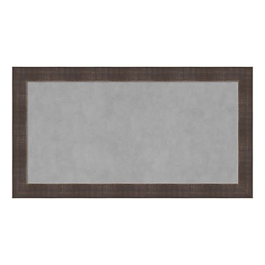 Amanti Art Framed Magnetic Board Medium, Whiskey Brown Rustic