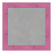 Amanti Art Framed Magnetic Board Small Square, Petticoat Pink Rustic