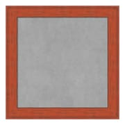 Amanti Art Framed Magnetic Board Small Square, Bourbon Orange Rustic