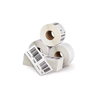 ProScan Media Products ? Étiquettes blanches à impression thermique directe, adhésif permanent