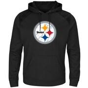 Majestic – Chandail à capuche des Steelers de Pittsburgh Armor, fibres synthétiques, moyen