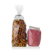 "Creative Bag Econo Hard Bottom Candy Bag, Clear, 4"" x2.5"" x13"", 100/Pack"