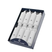 "Colonial Candle Ccnbb0502 5"" Classic White Taper Candle, 8/Pack"