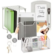 Honey-Can-Do Silver Back To School Kit, Silver