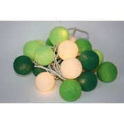Lighted Elements 20 Light In and Out Door Cotton Ball String Lighting