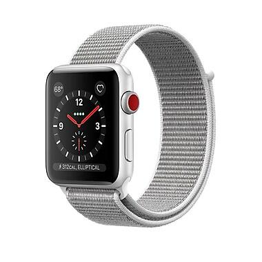Apple – Montre Apple Watch Series 3, GPS + cellulaire, boîtier aluminium argent avec bracelet sport à rabat coquillage