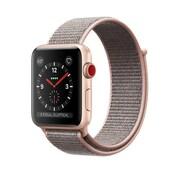 Apple – Montre Apple Watch Series 3, GPS + cellulaire, boîtier aluminium or avec bracelet sport sable rose