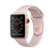 Apple – Montre Apple Watch Series 3, GPS, boîtier aluminium or avec bracelet sport sable rose