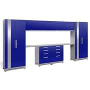NewAge Products Performance 2.0 10-Piece Garage Storage Set, Blue