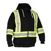 Forcefield Deluxe Safety Hoodie, Black, Large
