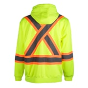 Terra Hi-Vis Hoodie with Removable Hood, Yellow (116506YL2X-Large)