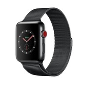 Apple Watch Series 3, GPS + Cellular, Space Black Stainless Steel Case with Space Black Milanese Loop