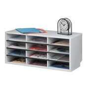 Fellowes® Compartment Sorters, Dove Grey (25004)
