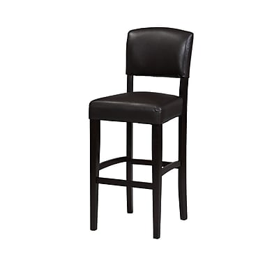 Linon Burton Espresso Bar/Counter Stool