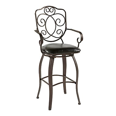 Linon Rae Crested Back Bar/Counter Stool
