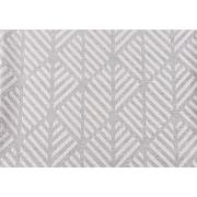 "Monarch Pillow, 18""x 18"", Light Grey Geometric Design"