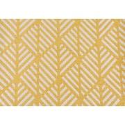 "Monarch Pillow, 18""x 18"", Yellow Geometric Design"