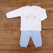 Kitikate Top & Pant Set, White/Blue