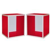 "Cathay Importers Cube Plus Storage Shelf, 13.5""W x 11""D x 15.5""H, 2/Pack (26-0002-NAT-EC)"