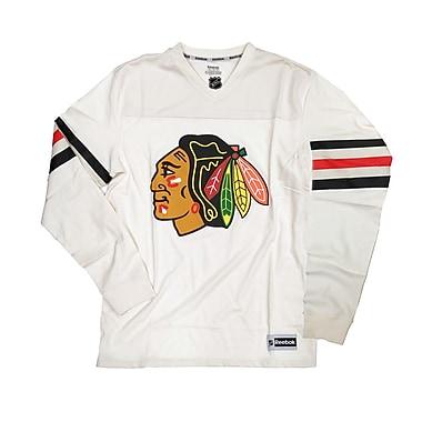 Reebok Chicago Blackhawks Long Sleeve Jersey Tee, Small