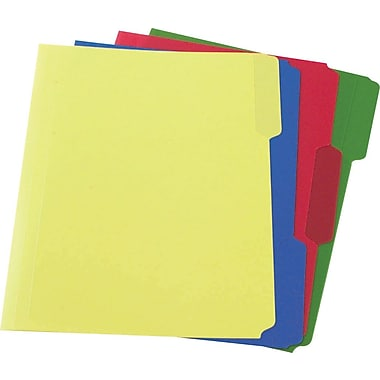 Staples® Top Tab Poly File Folders, Letter Size