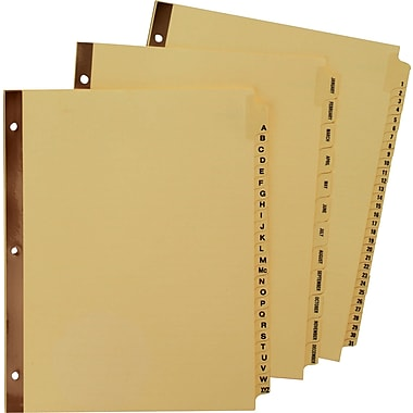 Avery® Gold Reinforced Preprinted Tab Dividers