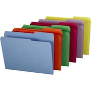 Staples® Guide-Height Colored Reinforced File Folders, Letter, 100/Box