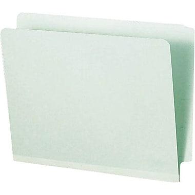 Smead® Expanding End Tab Pressboard File Folder, Straight-Cut Tab, Letter Size, Gray/Green, 25/Box