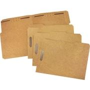 Staples® Heavy Duty Reinforced Fastener Folders, 2 Fasteners in Positions 1 & 3, Letter Size, 50/Box