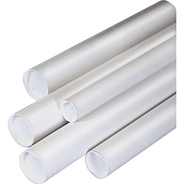 Plug-Seal Mailing Tubes, White