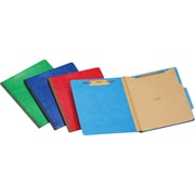 Staples®  Moisture-Resistant Classification Folders, 2 Dividers, Letter Size, 10/Box