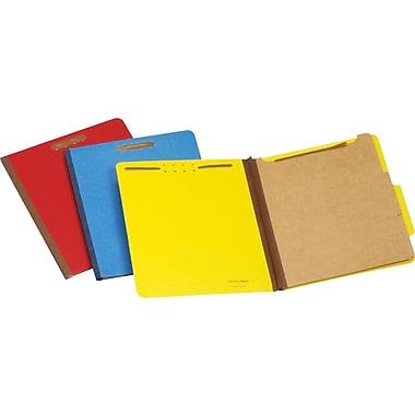 Staples® Pressboard Classification Folders, 1 Divider, Letter Size, 5/Box