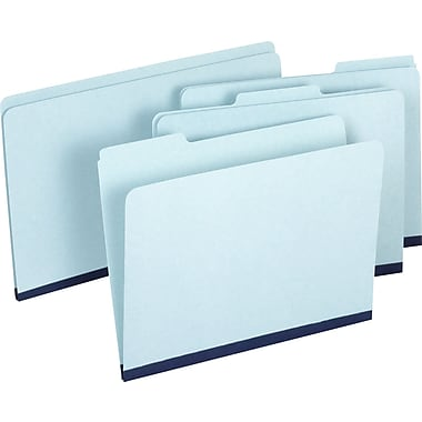 Staples® Top Tab Pressboard File Folders, Single Tab, 25/Box