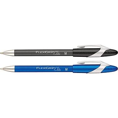 Papermate® Flexgrip Elite Ballpoint Pens, Retractable, 1.0 mm, 12/Pack